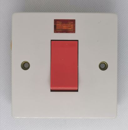 Crabtree 4016/3 1 Gang 45A DP Switch with Neon
