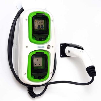Rolec 7.2kW Type 2 EV Wallpod Charging Unit w/ Tethered Lead 32A EVWP2140